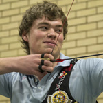 Bradley at the Archery World Cup in Shanghai